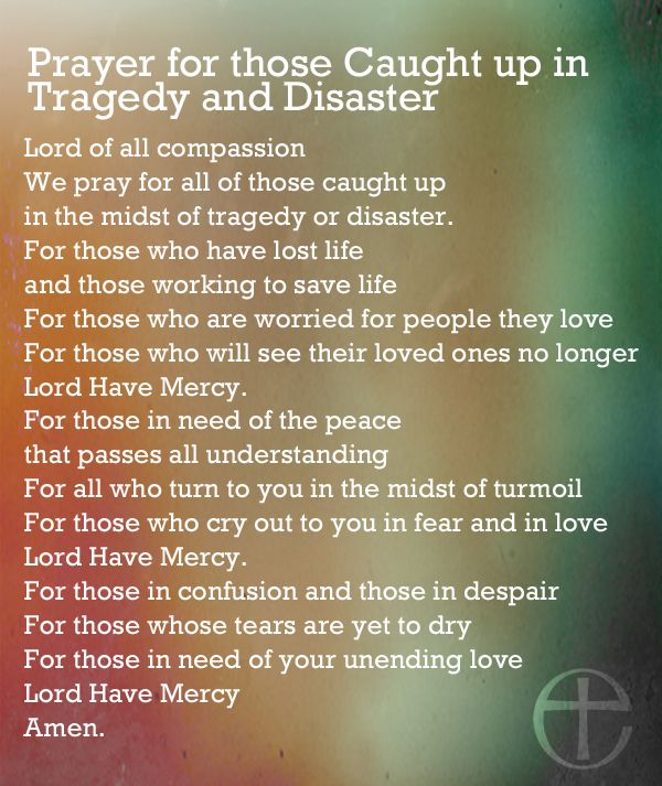 prayer for disaster tragedy